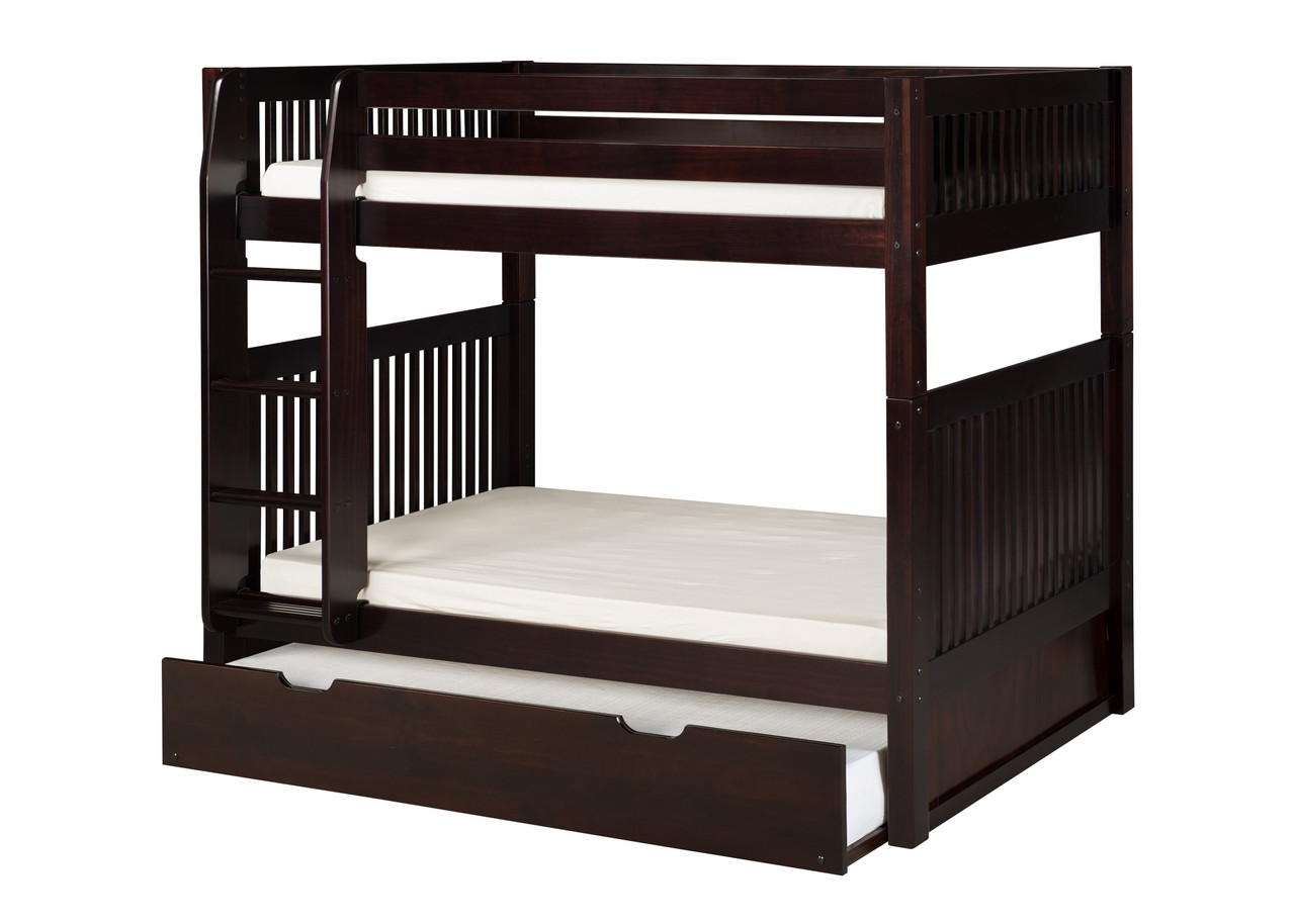 Picture of: Camaflexi Bunk Bed W Trundle Mission Headboard Cappuccino C912 Tr