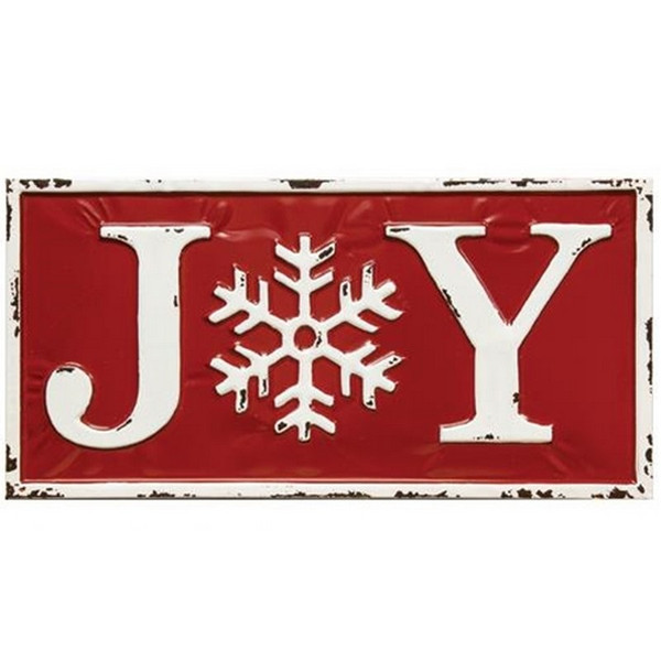 Joy Enamel Wall Sign G70003 By CWI Gifts
