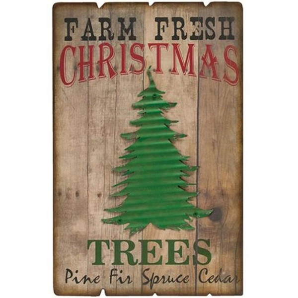 Farm Fresh Trees Sign G70011 By CWI Gifts