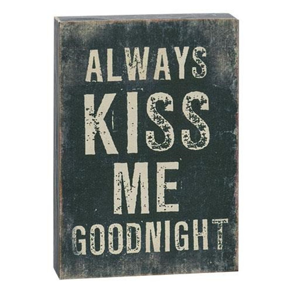"""Always Kiss Me Block Sign, 5"""" (Pack Of 5) G72224 By CWI Gifts"""