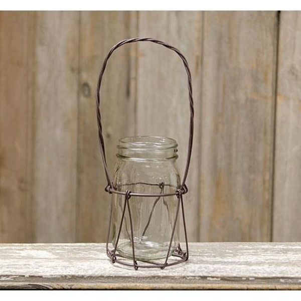Single Jar In Wire Basket With Handle (Pack Of 5) G72489 By CWI Gifts