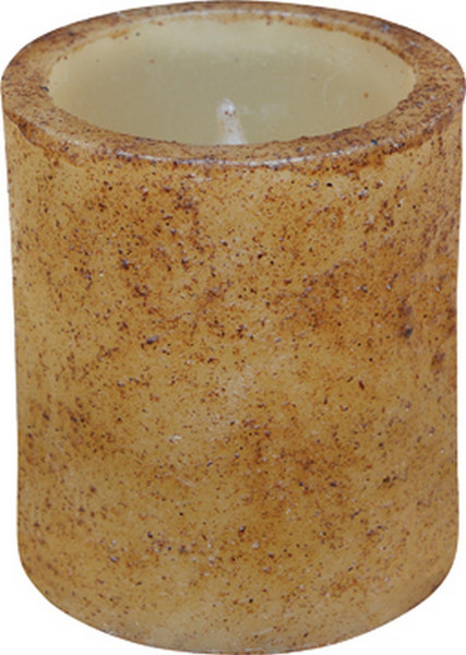 "3.5"" Burnt Ivory Timer Pillar G84028 By CWI Gifts"
