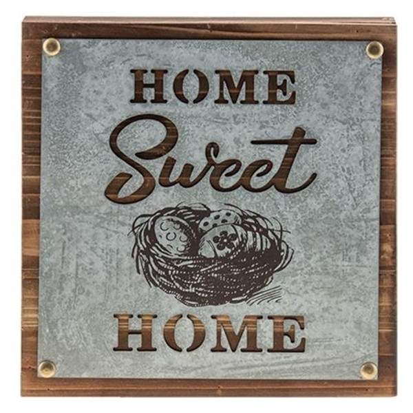 Home Sweet Home Box Sign G90252 By CWI Gifts