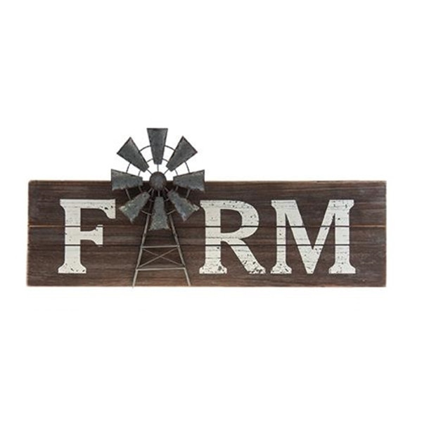 Farm Windmill Sign G90259 By CWI Gifts