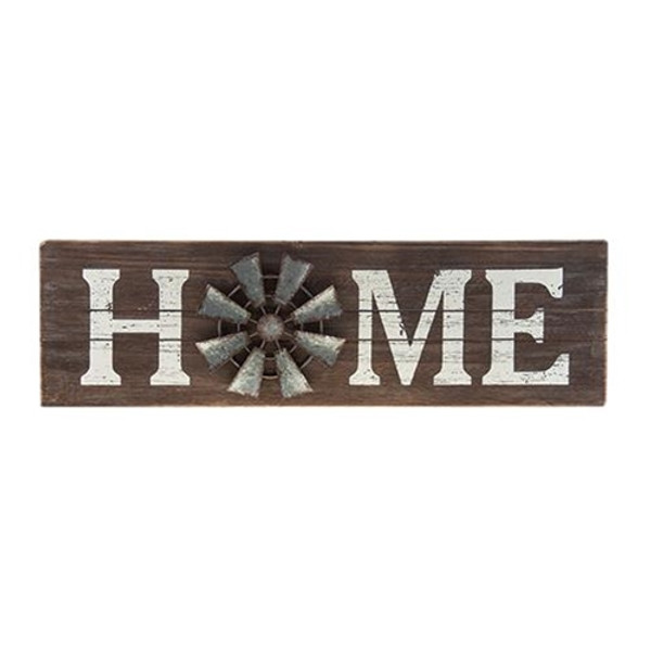 Home Windmill Sign G90260 By CWI Gifts