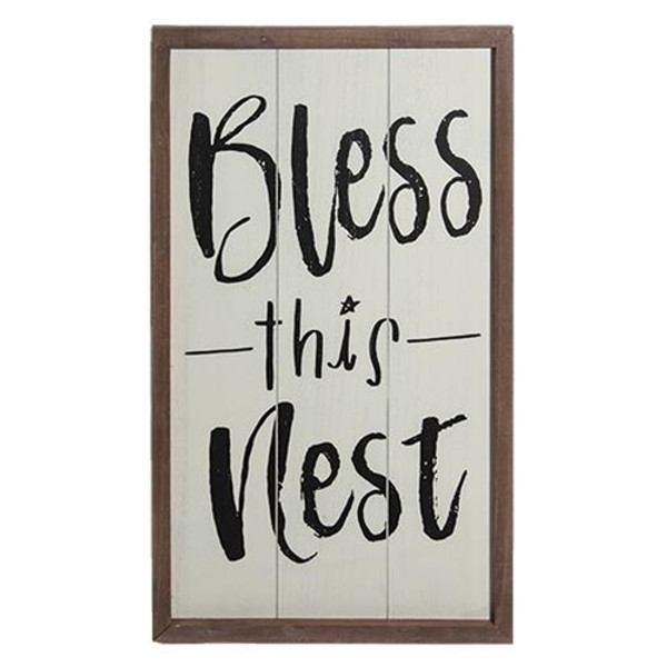 Bless This Nest Sign G90264 By CWI Gifts