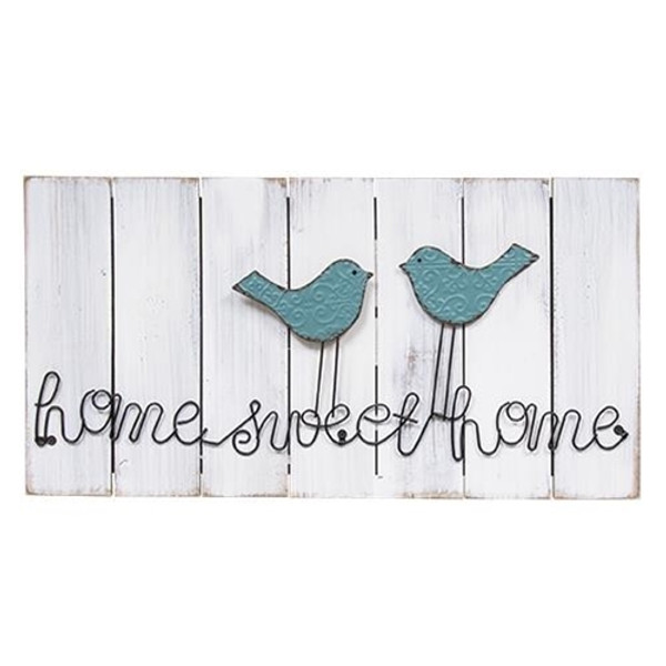 Home Sweet Home Wire Bird Sign G90360 By CWI Gifts