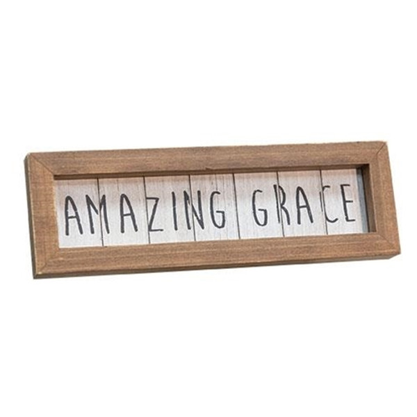 Amazing Grace Framed Easel G90391 By CWI Gifts