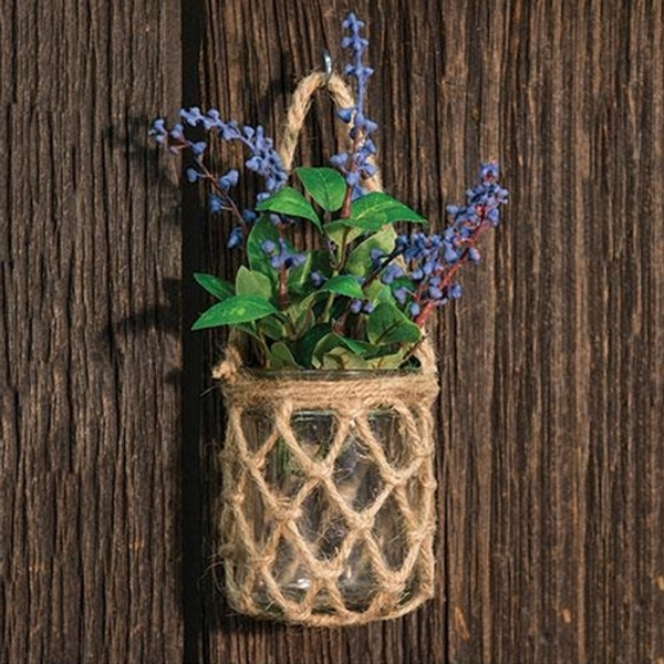 '+Glass Jar With Rope Net (Pack Of 5) GBB6A852 By CWI Gifts