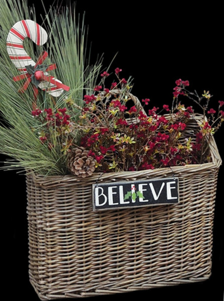 """Willow Wall Basket - 11"""" X 13"""" GBW8401 By CWI Gifts"""