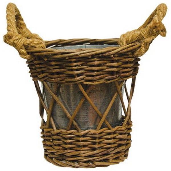 Willow Basket With Pot (Pack Of 5) GBW8659 By CWI Gifts