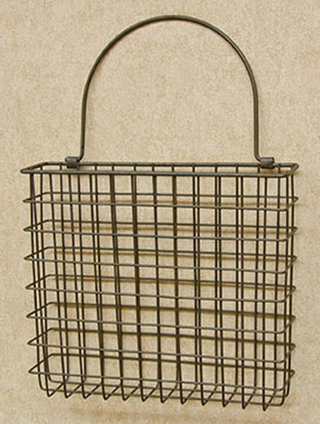 """Rusty Wire Pocket Basket - 8"""" X 9"""" GE14196 By CWI Gifts"""