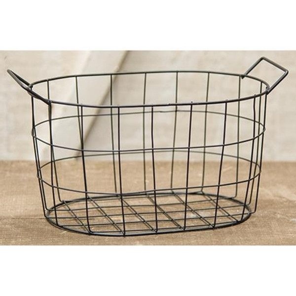 Black Wire Oval Basket, 8.75X5.75 GJHA0636L By CWI Gifts