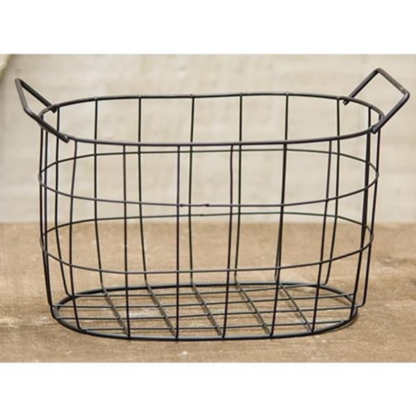 Black Wire Oval Basket, 7.5X5 (Pack Of 5) GJHA0636M By CWI Gifts