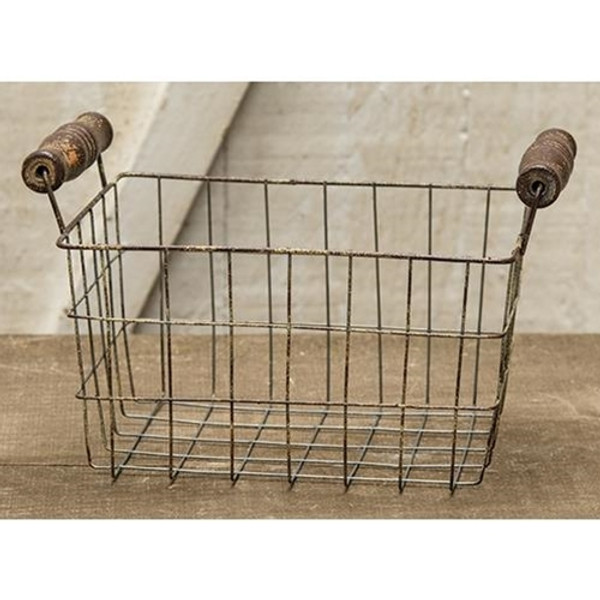 Rusty Wire Rectangle Basket, 7X5.25 GJHA0637M By CWI Gifts