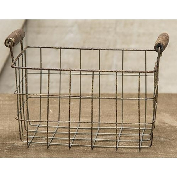 Rusty Wire Rectangle Basket, 6X4.25 (Pack Of 2) GJHA0637S By CWI Gifts
