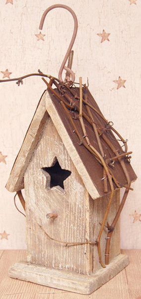 Antique White Birdhouse GJHE5751A By CWI Gifts