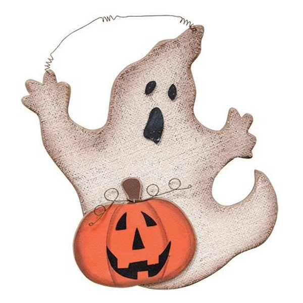 Ghost & Jack-O-Lantern Plaque GJHF7001 By CWI Gifts