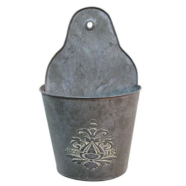"""Tin Wall Basket, 11"""" GM9299 By CWI Gifts"""