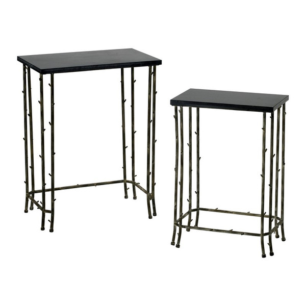 Cyan Bamboo Nesting Tables 02045