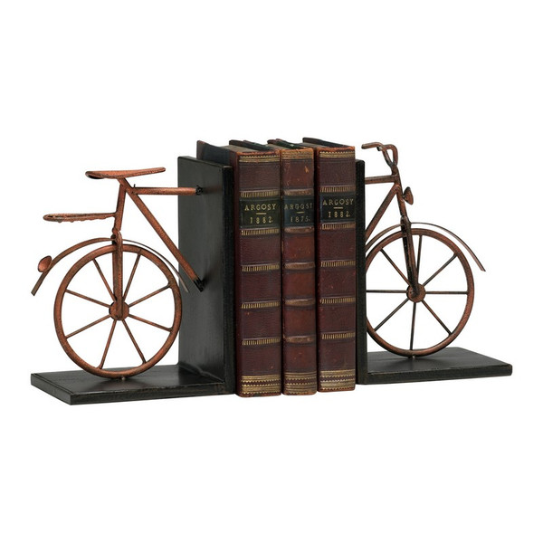 Cyan Bicycle Bookends (Set Of 2) 02796