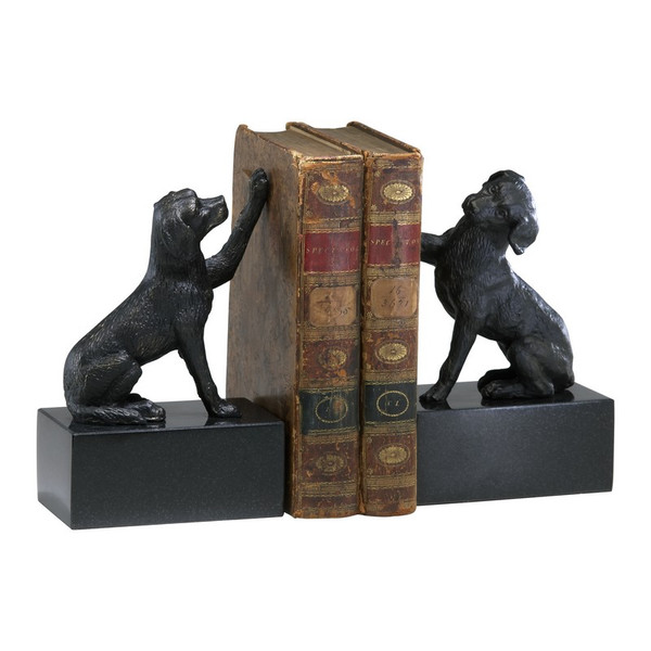 Cyan Dog Bookends (Set Of 2) 02817