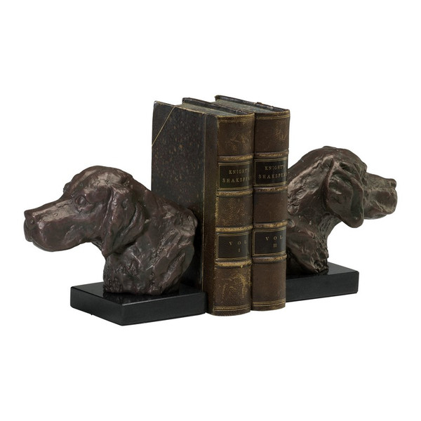 Cyan Hound Dog Bookends (Set Of 2) 02847