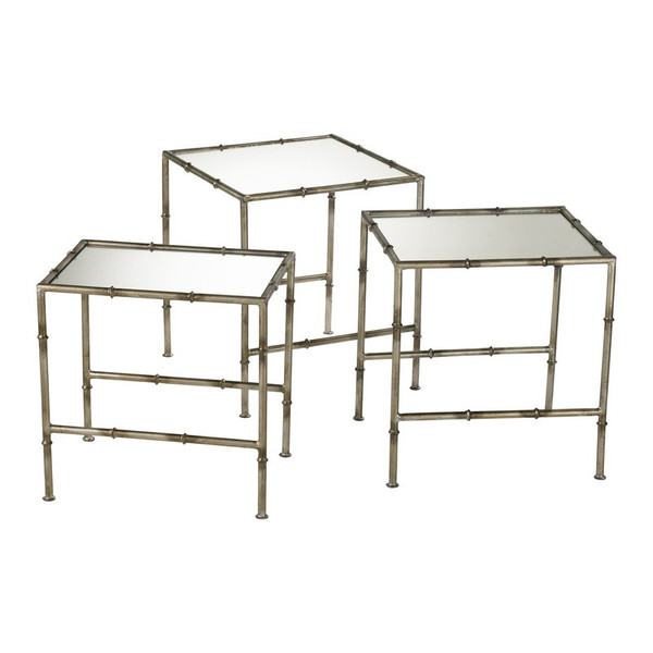 Cyan Bamboo Nesting Tables 03068