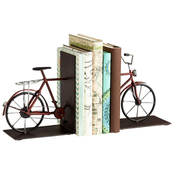 Cyan Pedal Bookends 06649