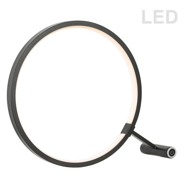 12W Led Table Lamp, Black Finish 415LEDT-BK By Dainolite