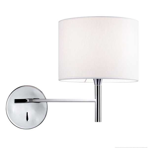 1 Light Incandescent Wall Sconce 463-1W-PC-WH By Dainolite