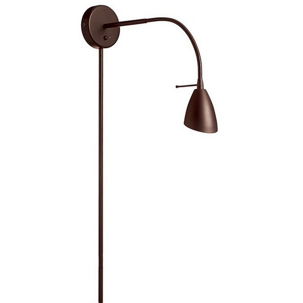 Wall Mounted Halogen Reading Lamp - Oil Brushed Bronze DGUW224-OBB