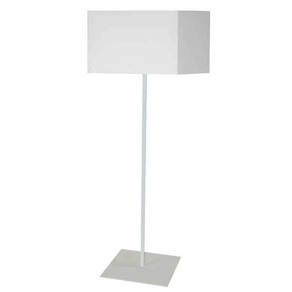 1Lt Square Floor Lamp With White Shade MM201F-WH-790 By Dainolite