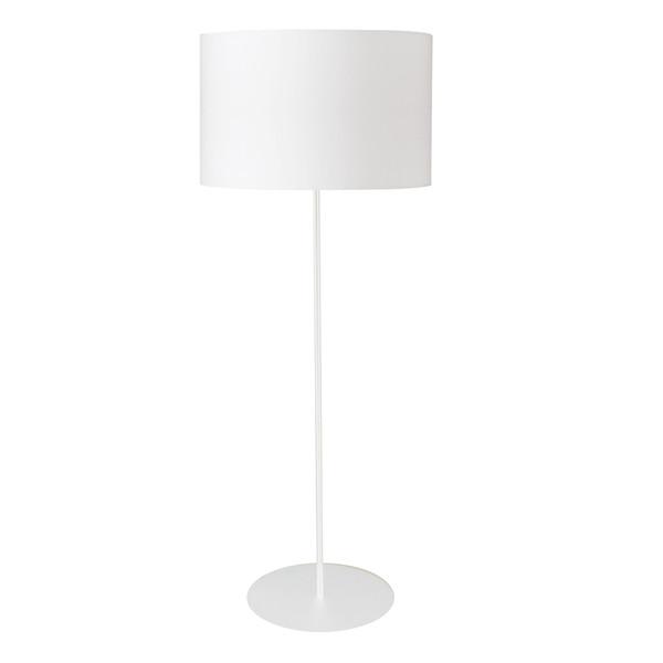 1Lt Drum Floor Lamp With White Shade MM221F-WH-790 By Dainolite