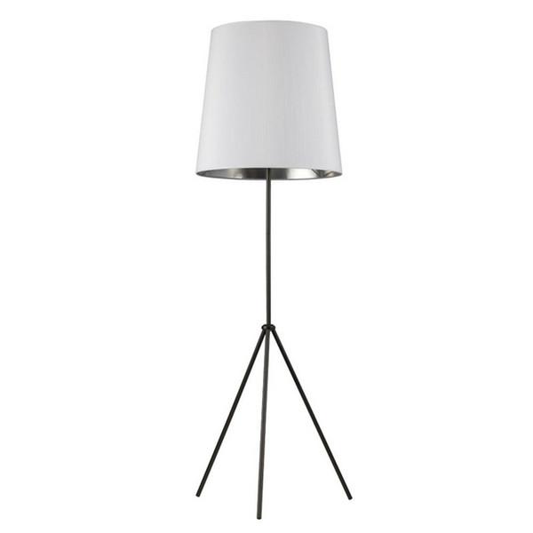1-Light 3 Leg Oversize Drum Floor Lamp - White/Silver Shade OD3-F-691-MB