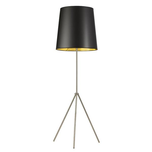 1-Light 3 Leg Oversize Drum Floor Lamp - Black/Gold Shade OD3-F-698-SC
