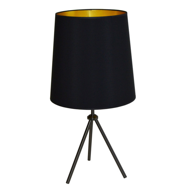 1Lt 3 Leg Drum Table Fixture With Black-Gold Shade OD3T-L-698-MB