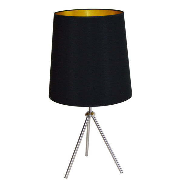 1Lt 3 Leg Drum Table Fixture With Black-Gold Shade OD3T-L-698-SC