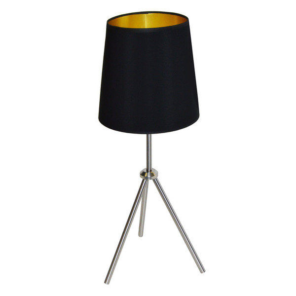 1Lt 3 Leg Drum Table Fixture With Black-Gold Shade OD3T-S-698-SC