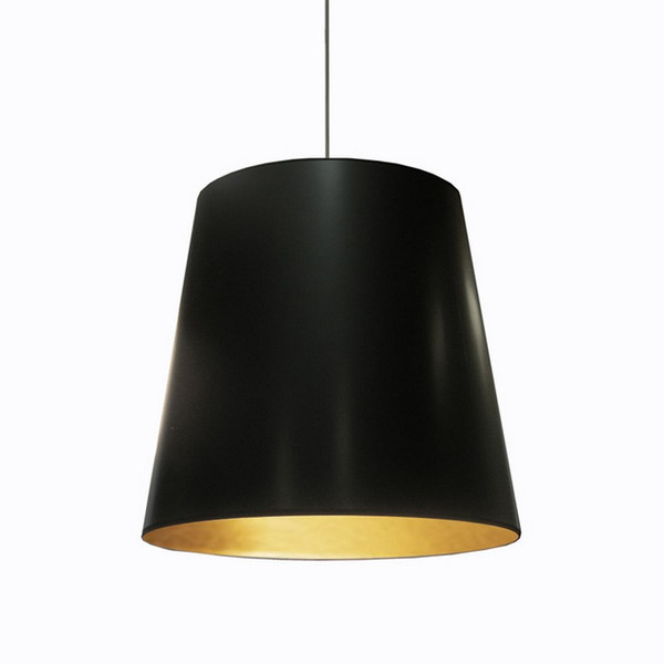 1-Light Oversized Drum Pendant with Black/Gold Shade - Large OD-L-698
