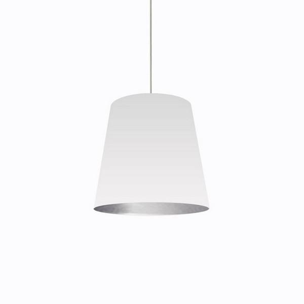 1-Light Oversized Drum Pendant with White/Silver Shade - Medium OD-M-691
