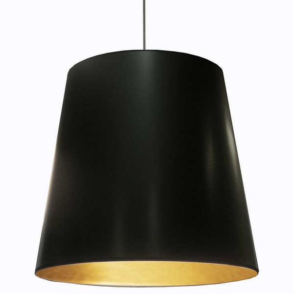 1-Light Oversized Drum Pendant with Black/Gold Shade OD-XL-698