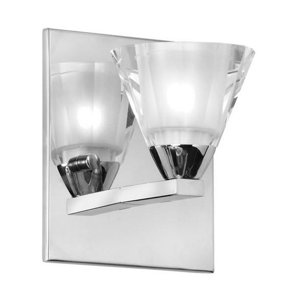 1-Light Wall Sconce - Polished Chrome with Optical Crystal V689-1W-PC