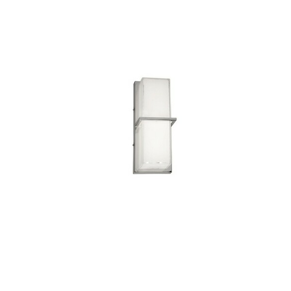 14 Watt LED Wall Sconce - White Cased Glass/Polished Chrome VLD-311-PC