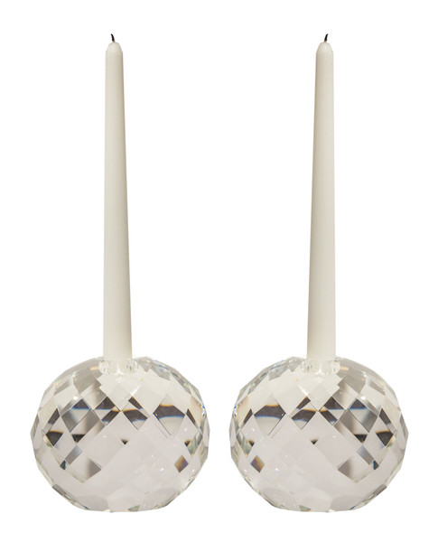 APL032 Faceted Ball Crystal Candle Holder (Pack of 2) by Dessau Home