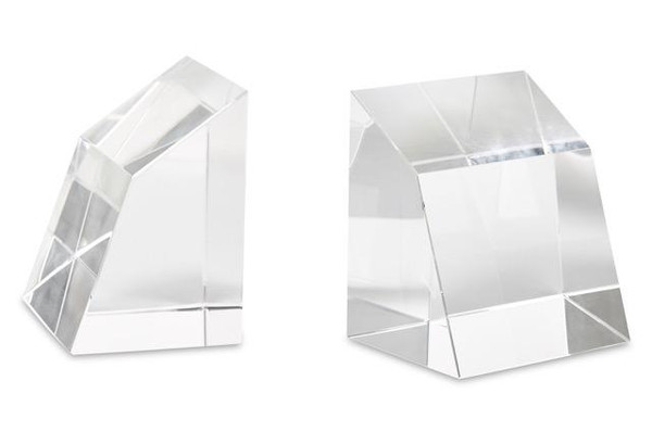 APL053 Crystal Angular Bookend ( Pair ) by Dessau Home