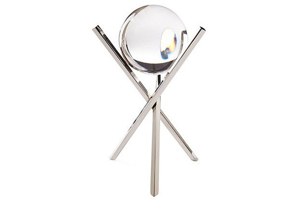 APL200 Crystal Ball Nickel X Sticks Pack of 2 by Dessau Home