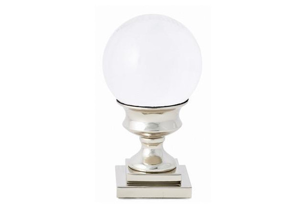 APL437 Crystal Ball On Nickel Pedesta (Pack of 2) by Dessau Home