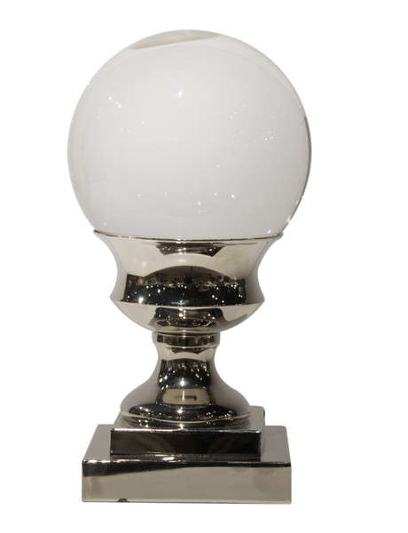 APL438 Crystal Ball On Nickle Pedesta (Pack of 2) by Dessau Home