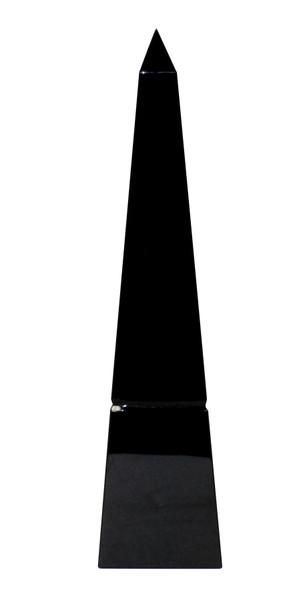 APL609 Black Crystal Groove Base Obelisk (Pack of 2) by Dessau Home